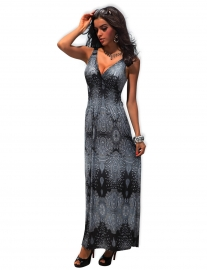 Magical Long Dress Grey