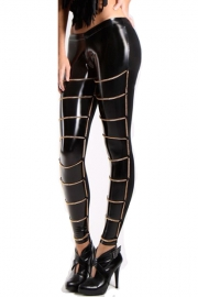 Gold-Metal Chain Legging Wear