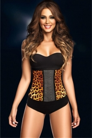 New Royal Rubber Corset Yellow Leopard