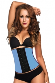 New Royal Rubber Corset Lakeblue