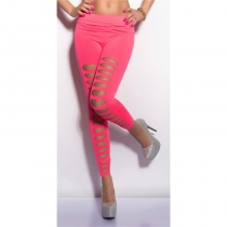 Rosy Sexy Front Ripped Big Holes Leggings