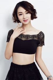 Sophisticated Sexy Lace Chestwap Black