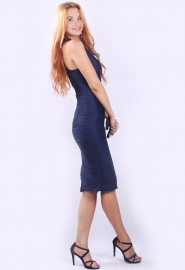 Azure Blue Racer Top Structured Bodycon Dress