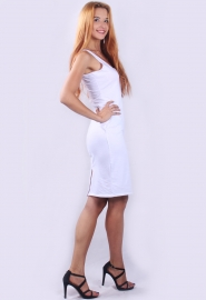 Sexy Summer Halter Strappy Hollow Out Back Slit Bodycon Dress Pure White