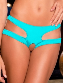 Women Sexy Hollow Out Panty Blue