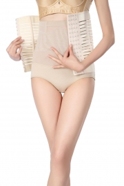 Hot Sale Slimming Body Suit Stripe Sexy Corset Apricot
