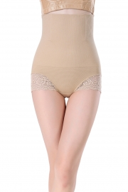 Apricot Sexy Cheap Women Seamless High Waist FlashLift Postpartum Shapewear