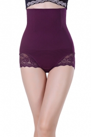 Purple Sexy Cheap Women Seamless High Waist FlashLift Postpartum Shapewear