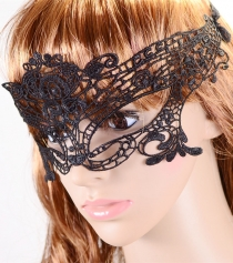 Handmade Mysterious Black Night Club Lace Party Mask