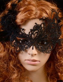 Wholesale  Halloween Cosplay Black Night Club Lace Party Mask