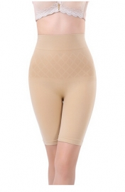 Women High Waist Sexy Body Sculpting Boyshort Apricot