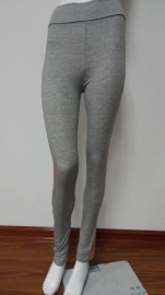 Gray Fashion Two Sides Orange Leggings