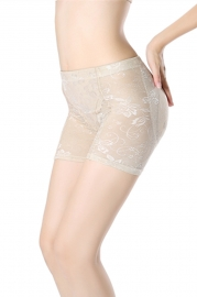 Lace Breathable Lifter Middle Waist Slimming Bodyshaper Apricot