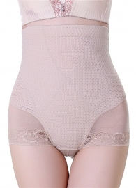 Sexy Lifter Underwear High Waist Bodyshaper Apricot