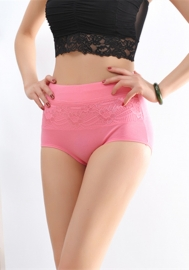 Bodybuilding High Waist Lifter Cotton Shapewear Watermelon Red
