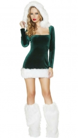 Green & Red Fantasy Christmas Cosplay Scrooges Costume