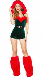 Two Pieces Christmas Cospaly Green Costume