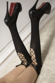 Velvet Bind Silk Stockings