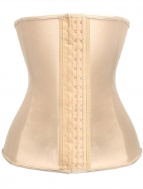 Sexy Stylish One Piece Steel Bone Waist Trainer Bodyshape Corset Apricot