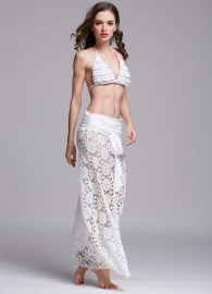 New Arrival Hollow Out Crochet Beachwear White