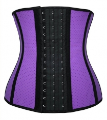 Sexy Stylish One Piece Waist Trainer Bodyshape Corset Purple