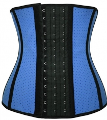 Sexy Stylish One Piece Waist Trainer Body Shaper Corset Light Blue