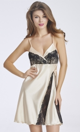 Apricot Patchwork Sexy Chemise