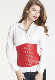 New Arrival Women Zip Tieback Corset Red