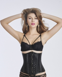 Women Black Sexy Steel Bones Waist Training Corset