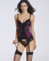 Wholesale New Fashion Women Corset Purple