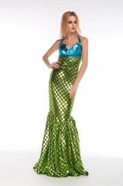 Sexy Mermaid Costume Green
