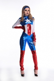 New Arrival  Long Sleeve Captain America Costume