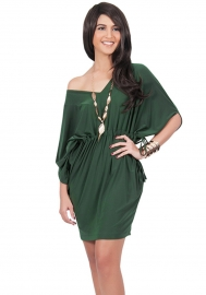 Hot Sexy Strapless Waist Bodycon Dress Army Green