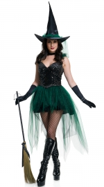 Newest Women Sexy Strappy Witch Cosplay For Halloween Costume