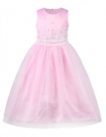 Flower Girl Princess Bridesmaid Wedding Pageant Party Dresses Pink