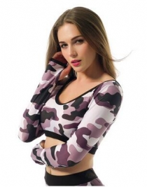 Wholesale New Arrival Hot Sexy Camouflage Long Sleeve for Sport Bronze