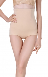 Flexees Women's Shapewear Hi-Waist Brief Firm Control Apricot