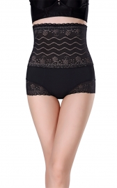 Womens Shapewear Briefs Lace High Waist Cincher Tummy Control Panties Black