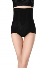 Women Tummy Control Butt Lifter Hi-waist Shapewear Panties Black