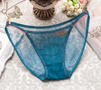 Sexy Women Faux Denim Panties Water Blue
