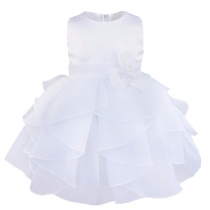 Toddler Ruffle Flower Party Pageant Princess Summer Dress White