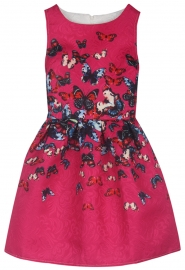 Girl's Floral Print Cute Tank Mini A Line Skater Party Dress Rose