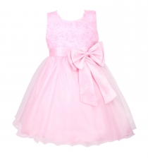 Girl Pageant Party Formal Dress Ceremony Flower Communion Dress Pink