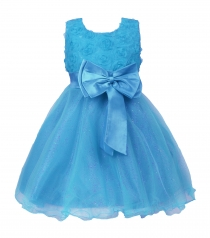 Girl Pageant Party Formal Dress Ceremony Flower Communion Dress Blue