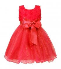 Girl Pageant Party Formal Dress Ceremony Flower Communion Dress Red