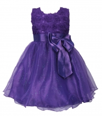 Girl Pageant Party Formal Dress Ceremony Flower Communion Dress Purple