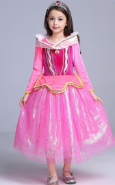 Princess Aurora Dress Girl Party Dress Ceremony Fancy Costume