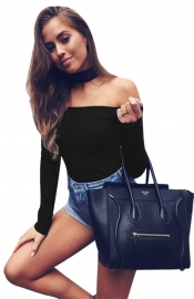 Womens Sexy Casual Party Work Bodysuit with Sleeves Jumpsuit Black