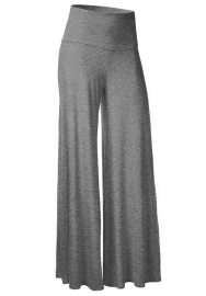 Women'S Poly Span Comfy Casual to Office Straight Pants - Solid Grey