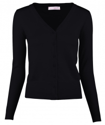 Women Button Down Long Sleeve Basic Soft Knit Cardigan Sweater Black